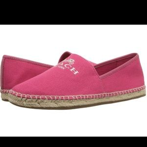 🌸Coach🌸 Dark Pink Espadrilles